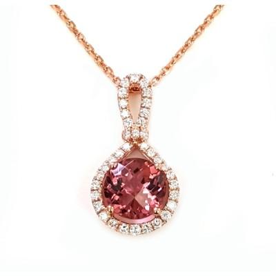 NJ Design Diamond-Tourmaline Necklace