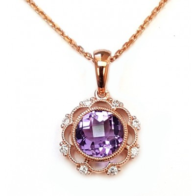 NJ Design Diamonds-Amethist Necklace