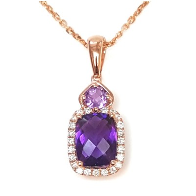 NJ Design Diamonds-Amethyst Necklace