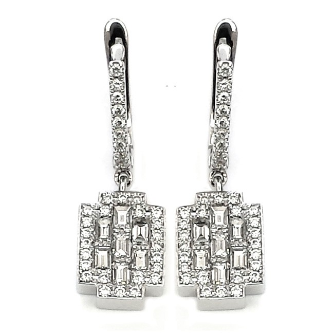 NJ Design Diamond Earrings