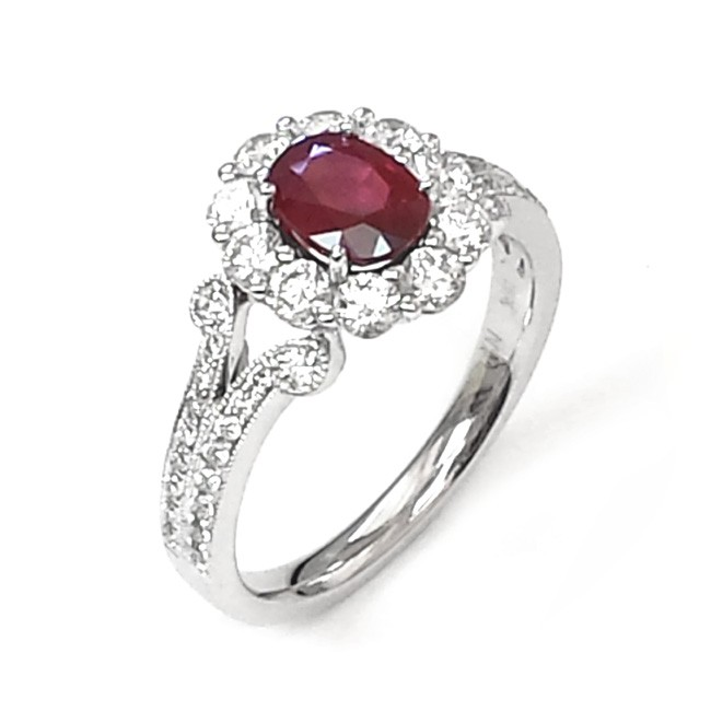 Nj Design Diamond Ruby Ring