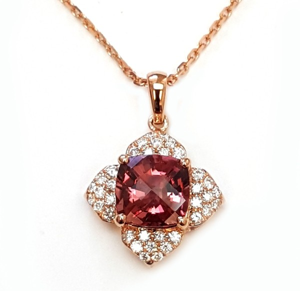 NJ Design Diamonds-Tourmaline Necklace